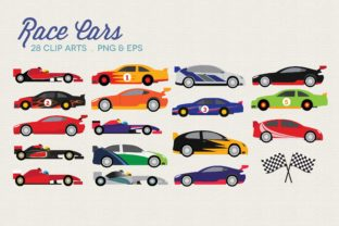 Race Cars Clipart Vector PNG Graphic Illustrations By peachycottoncandy