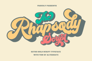 Print on Demand: The Rhapsody Display Font By bluetype