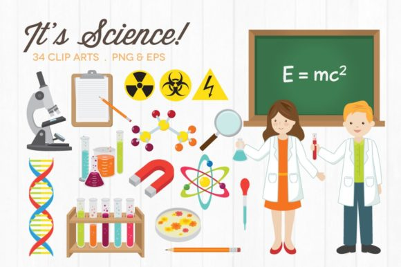 Science Clipart Vector PNG Graphic Illustrations By peachycottoncandy