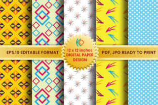 Scrapbook Paper Pack Designs Graphic Patterns By Koes Design