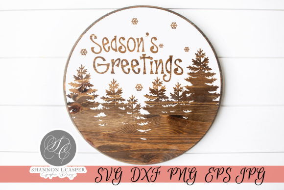 Print on Demand: Season's Greeting Round SVG Graphic Illustrations By Shannon Casper