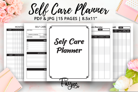 Self Care Planner KDP Template Graphic