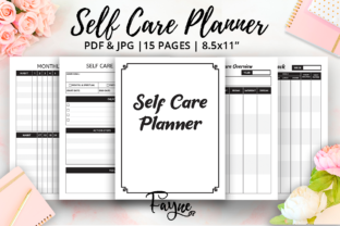 Print on Demand: Self Care Planner KDP Template Graphic KDP Interiors By Fayne