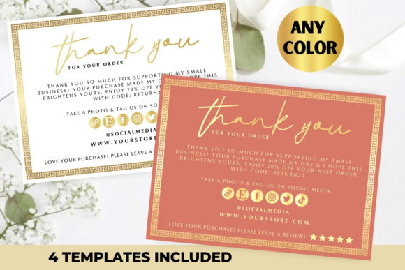 Small Business Thank You Card Template Graphic Print Templates By 0filipemarques0