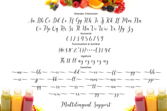 Smoothie Font Downloadable Digital File