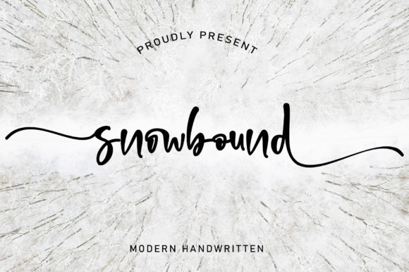 Print on Demand: Snowbound Script & Handwritten Font By thomasaradea