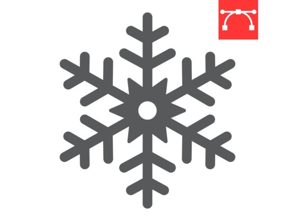 Snowflake Glyph Icon Graphic Icons By Fox Design