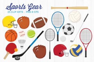 Sports Gear Clipart Vector PNG Graphic Illustrations By peachycottoncandy
