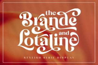 Print on Demand: The Brande and Lotaline Serif Font By Arterfak Project