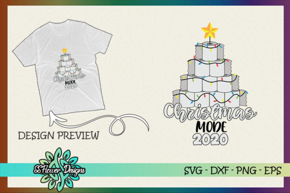 Toilet Paper Christmas Tree Mode 2020 Graphic Print Templates By ssflower