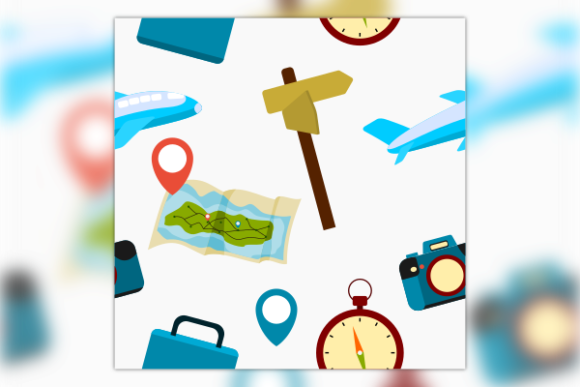 Travel Equipment Seamless Pattern Graphic Patterns By faqeeh