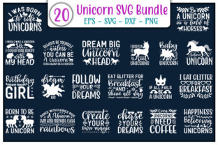 Print on Demand: Unicorn  Quotes Design Bundle Graphic Print Templates By GraphicsBooth
