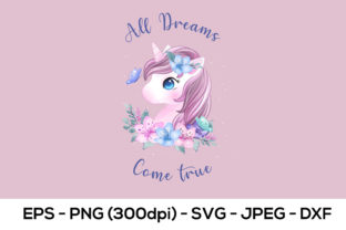Print on Demand: Unicorn Watercolor Sublimation Graphic Crafts By AdMaioraDesign