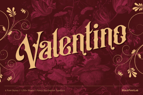 Print on Demand: Valentino Blackletter Font By black.fontlab