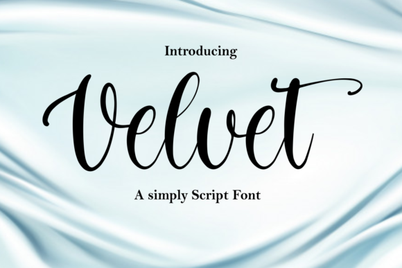 Print on Demand: Velvet Script & Handwritten Font By mfikryalif