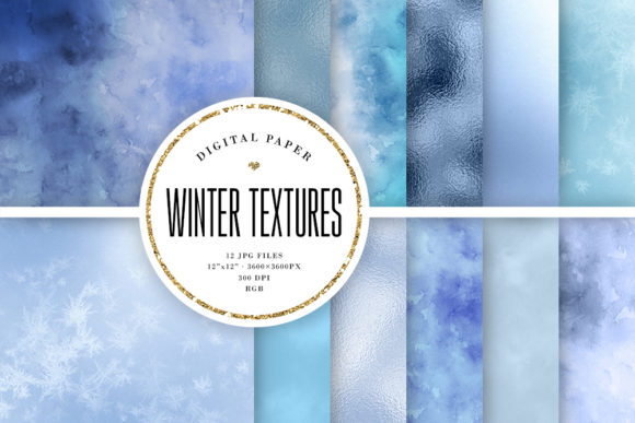 Print on Demand: Winter Texture Backgrounds Graphic Backgrounds By Sabina Leja