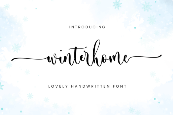 Print on Demand: Winterhome Script & Handwritten Font By Sronstudio