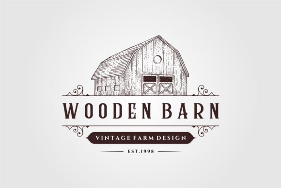 Wooden Barn Logo Vintage Illustration Graphic Logos By lawoel