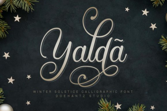 Print on Demand: Yaldã Script & Handwritten Font By Doehantz Studio