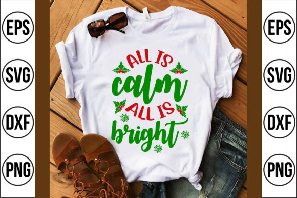 All is Calm All is Bright Graphic Crafts By Craft Store