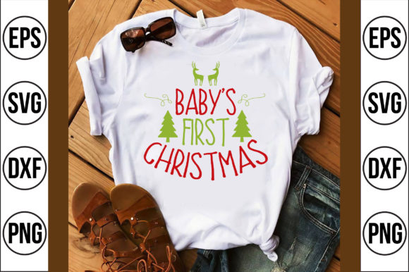 Baby's First Christmas Graphic Crafts By Craft Store
