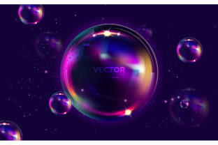 Background with Bubbles and Stars Graphic Illustrations By Aghiez