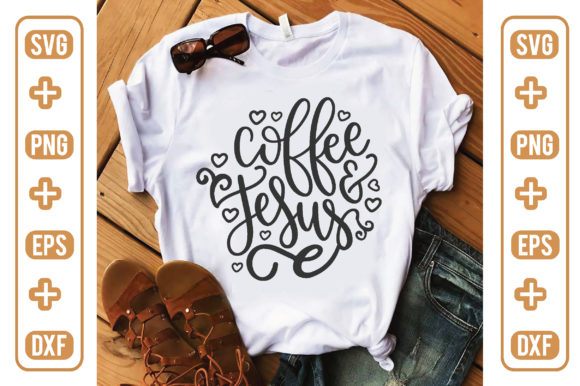 Coffee and Jesus Graphic Crafts By craftstore