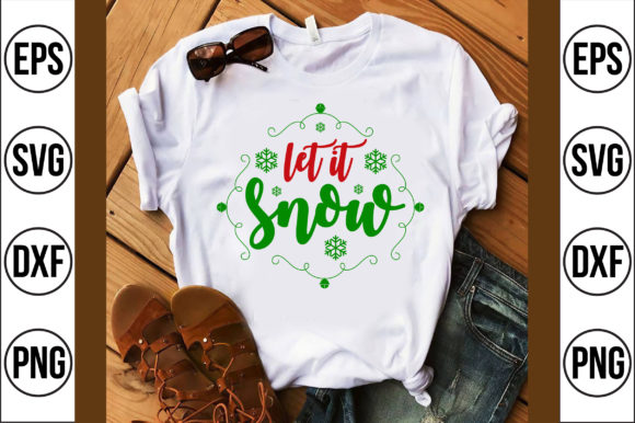 Let It Snow Graphic Crafts By Craft Store