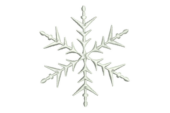 Print on Demand: Сrystal Snowflake Backgrounds Embroidery Design By EmbArt