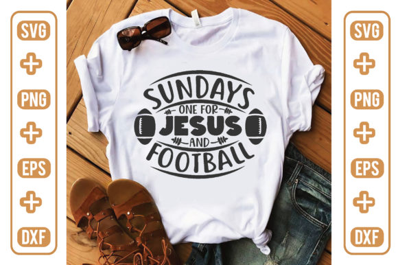 Sundays One for Jesus and Football Graphic Crafts By craftstore