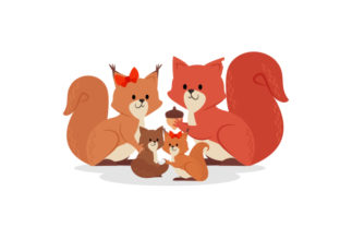 Squirrel Family Family Craft Cut File By Creative Fabrica Crafts