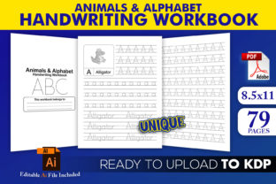 Print on Demand: ABC Handwriting Workbook | KDP Interior Graphic KDP Interiors By Beast Designer