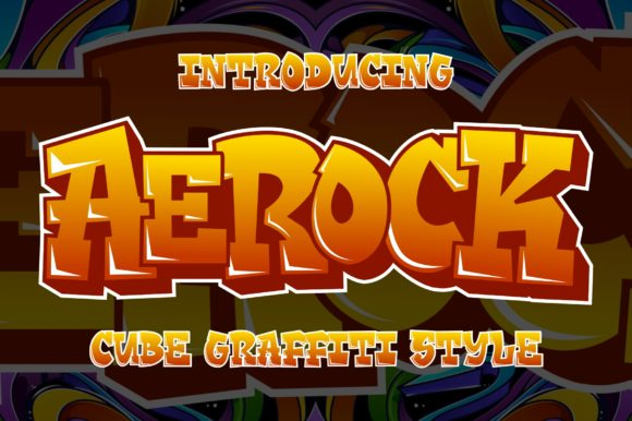 Print on Demand: Aerock Display Font By Garisman Studio