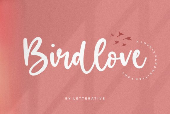 Print on Demand: Birdlove Script & Handwritten Font By letterativestudio