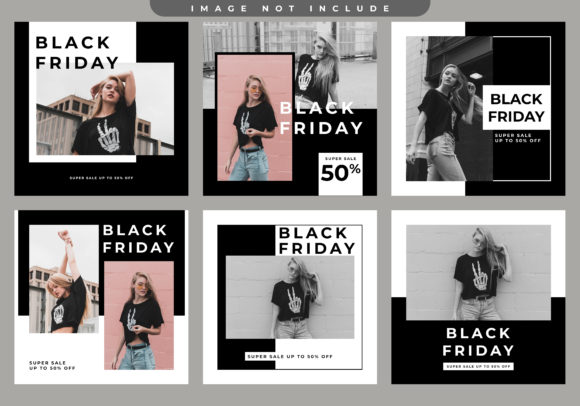 Black Friday Social Media Post Graphic Graphic Templates By Evloxx