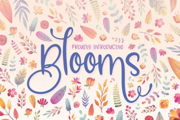 Print on Demand: Blooms Script & Handwritten Font By Salt & Pepper Designs