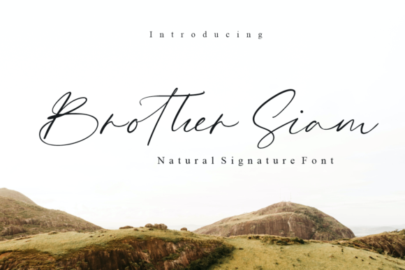 Print on Demand: Brother Siam Script & Handwritten Font By artype07