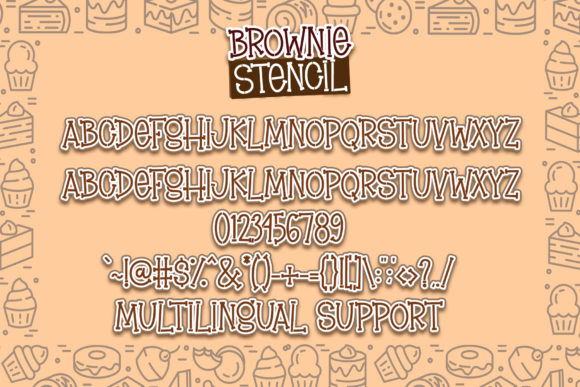 Brownie Stencil Font Preview