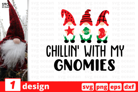 Chillin' with My Gnomies Graphic Crafts By SvgOcean