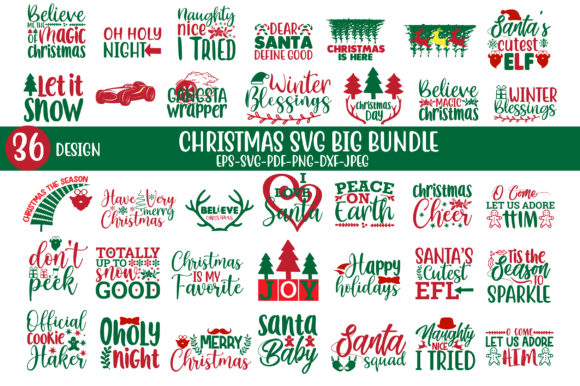 Christmas Big Bundle Graphic Crafts By Jabrin Super Store