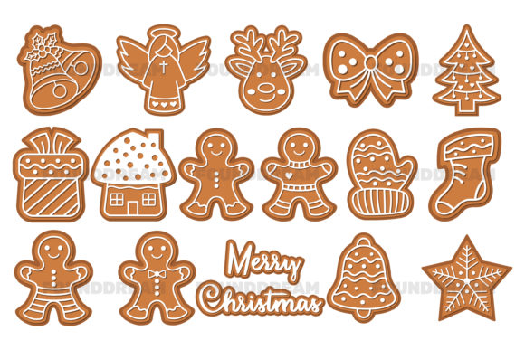 Print on Demand: Christmas ClipArt, Vector Files Graphic Illustrations By FounDream