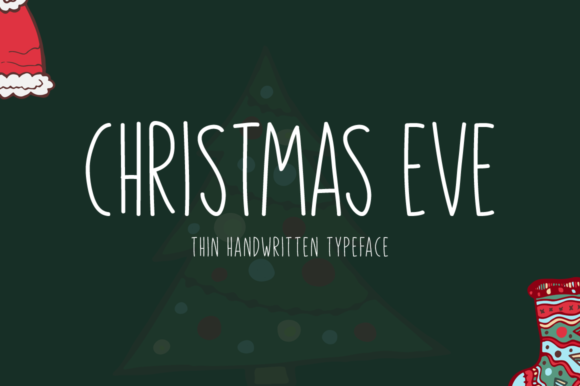 Print on Demand: Christmas Eve Manuscrita Fuente Por Seemly Fonts