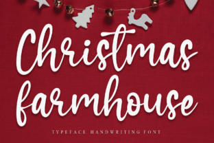 Print on Demand: Christmas Farmhouse Script & Handwritten Font By Creativewhitee