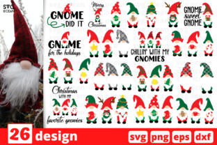 Christmas Gnomes SVG Bundle Graphic Crafts By SvgOcean