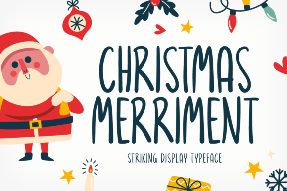 Print on Demand: Christmas Merriment Display Font By Seemly Fonts