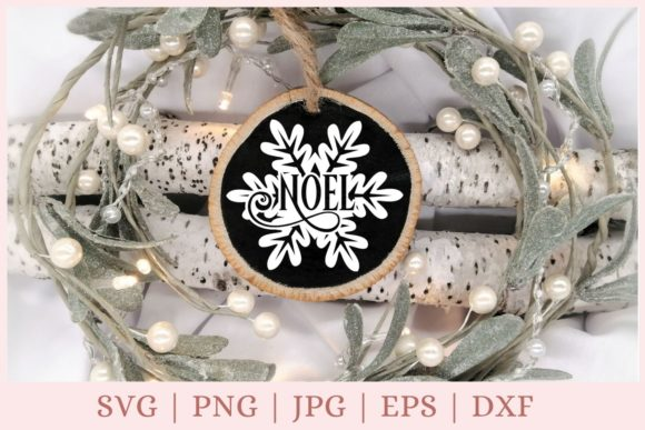 Christmas Ornament, Noel Graphic Print Templates By CrazyCutDesigns