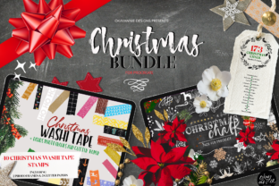 Christmas Procreate Brushes Bundle Graphic Brushes By OkayAnnie Designs