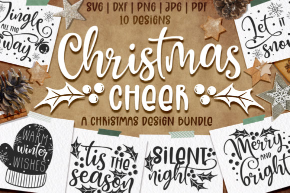 Christmas Quotes SVG | Cut Files Graphic Illustrations By Brushed Rose