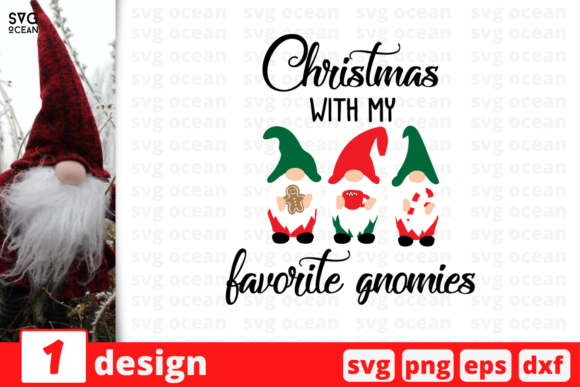 Christmas with My Favorite Gnomies Graphic Crafts By SvgOcean