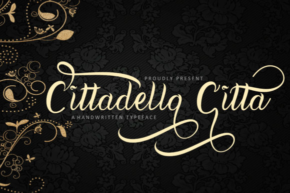 Print on Demand: Cittadella Citta Script & Handwritten Font By insanurbahagia